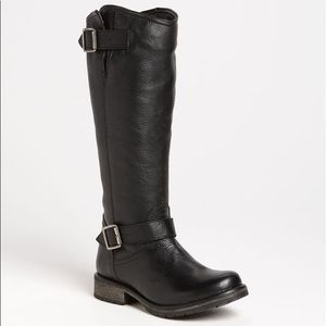 Steve Madden Fairmont Black Leather Tall Boots 6M